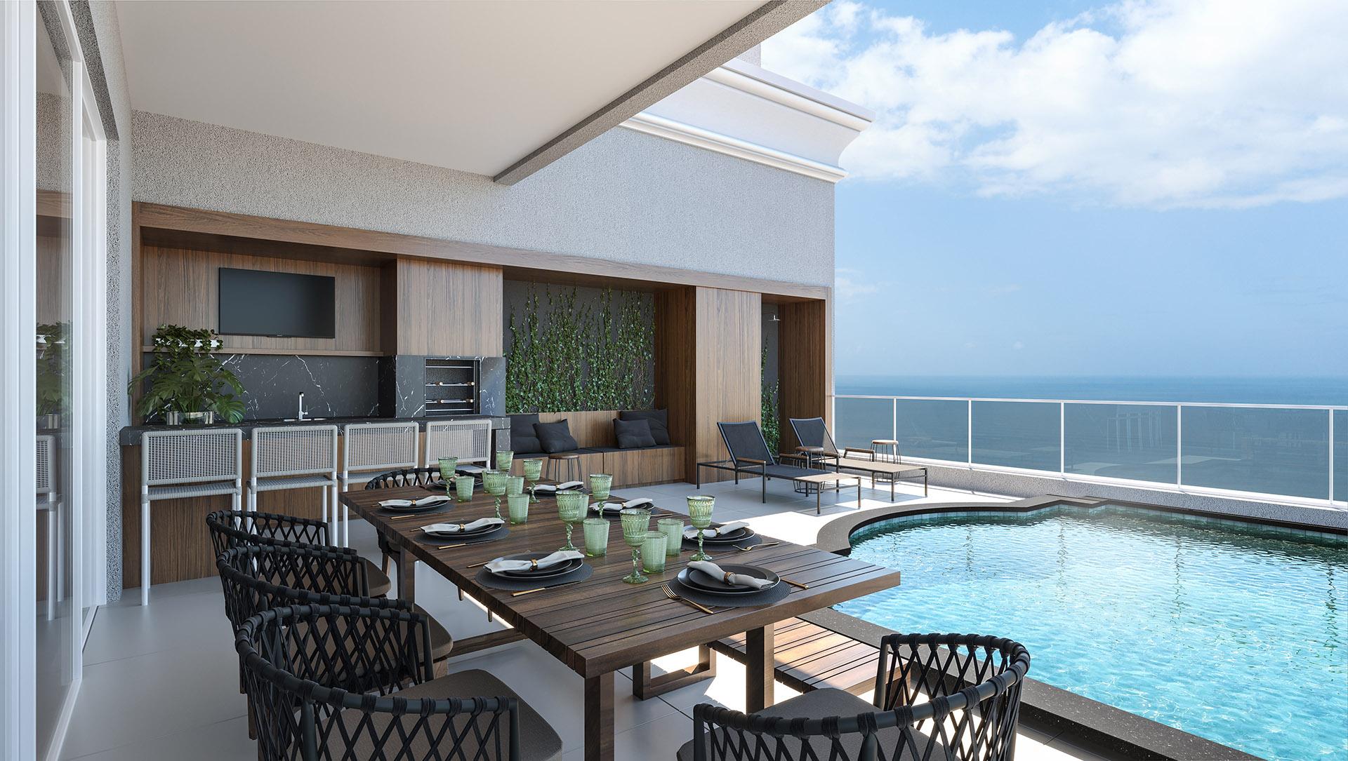 Terraço com piscina: 31,15m²