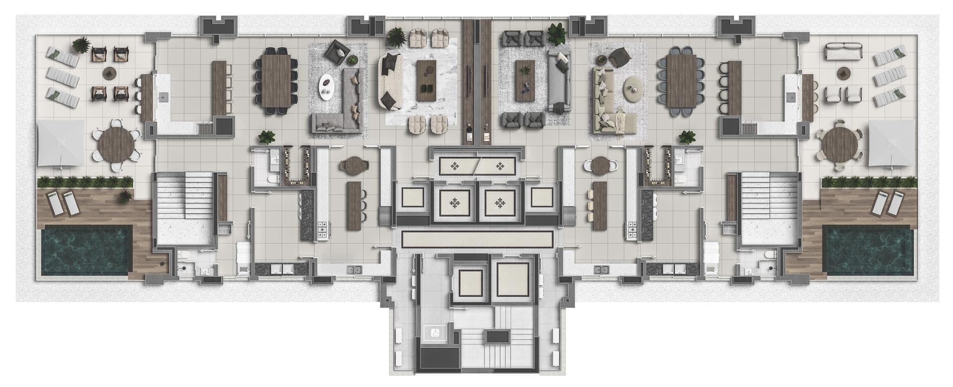 Penthouse Duplex - Pavimento Superior