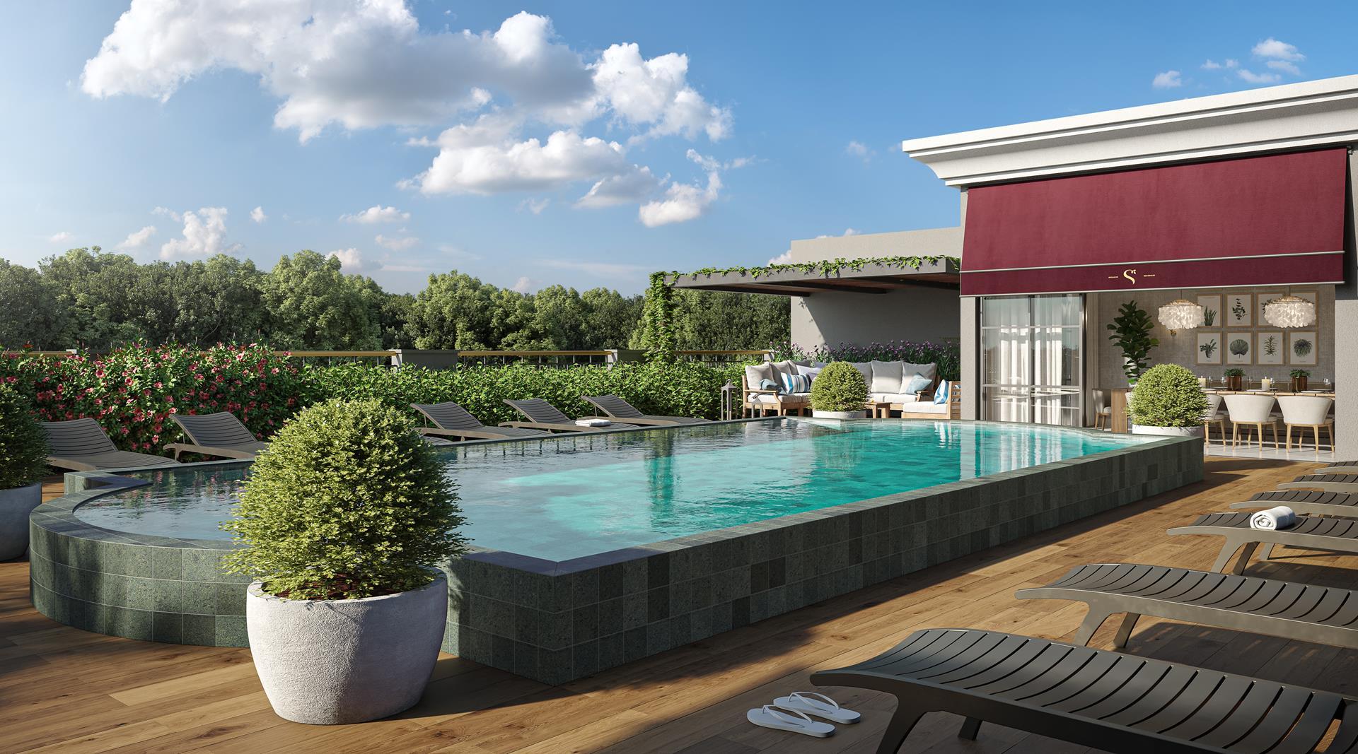 Gourmet com piscina privativa